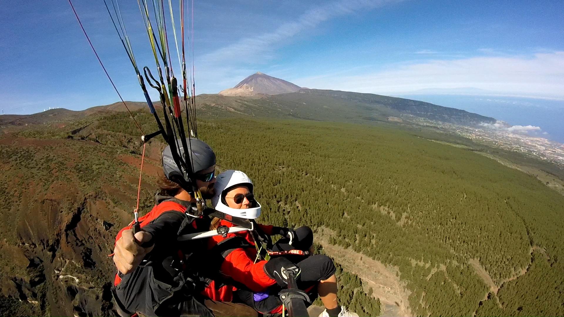 Fly paragliding Tenerife Izaña