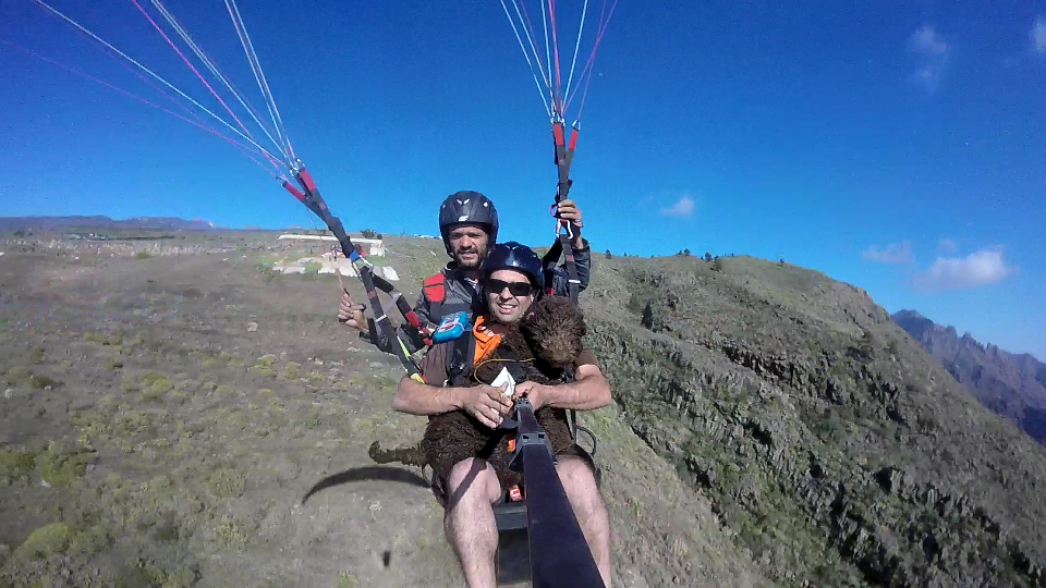 Fly Paragliding Tenerife Paragliding Baptism.Fly The flying dog